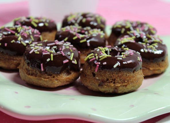 Chocolate Frosting on paleo donuts