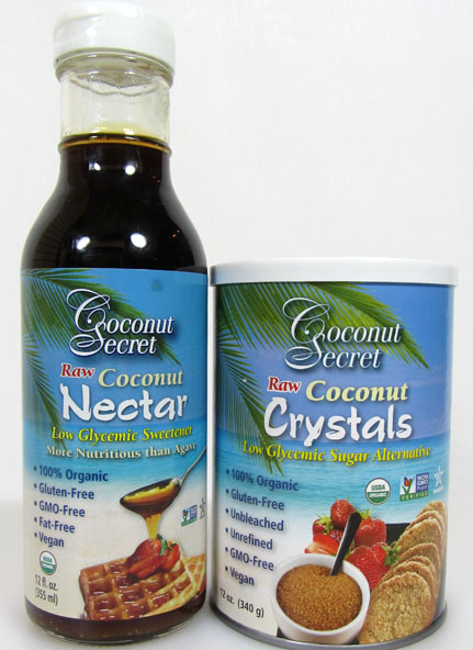 Coconut sugar and coconut nectar