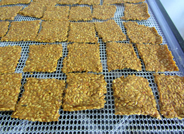 Flax Crackers scored image