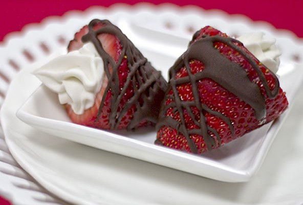 Cream Filled Chocolate Strawberries