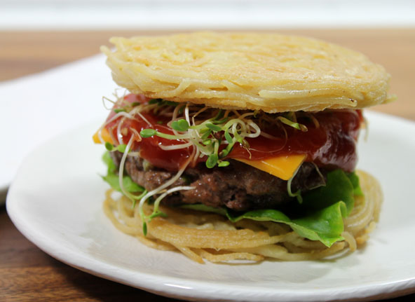 Healthy Alternative the the Ramen Burger
