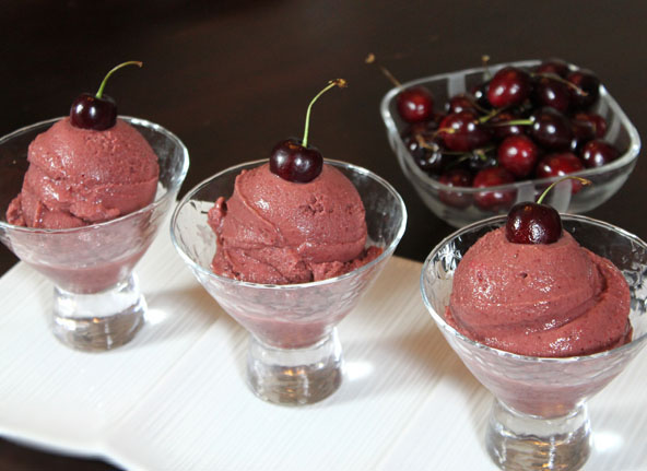 Healthy Wholetarian Cherry Ice Cream recipe